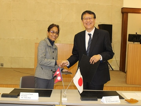 Grant Contract Signed between Embassy of Japan and Love Green Nepal